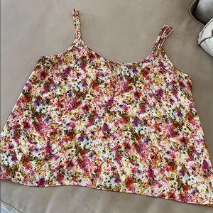 Aqua floral camisole